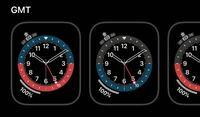 Apple Watchの文字盤GMTについて質問です。長針、短針、秒針以外の赤い針はなんですか? Apple Watch 時計 iPhone