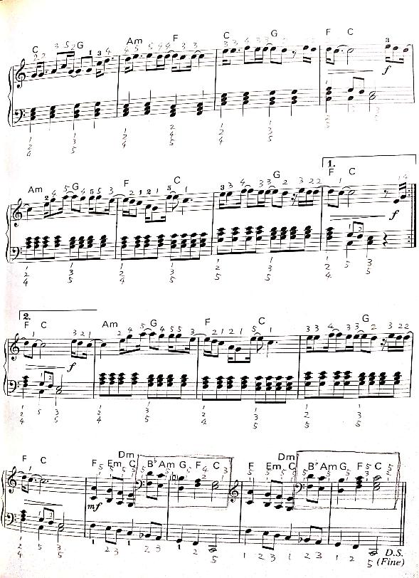 この楽譜の音源がないので誰か弾いてくれませんか?サビの部分のみで大丈夫です。よろしくお願いします。