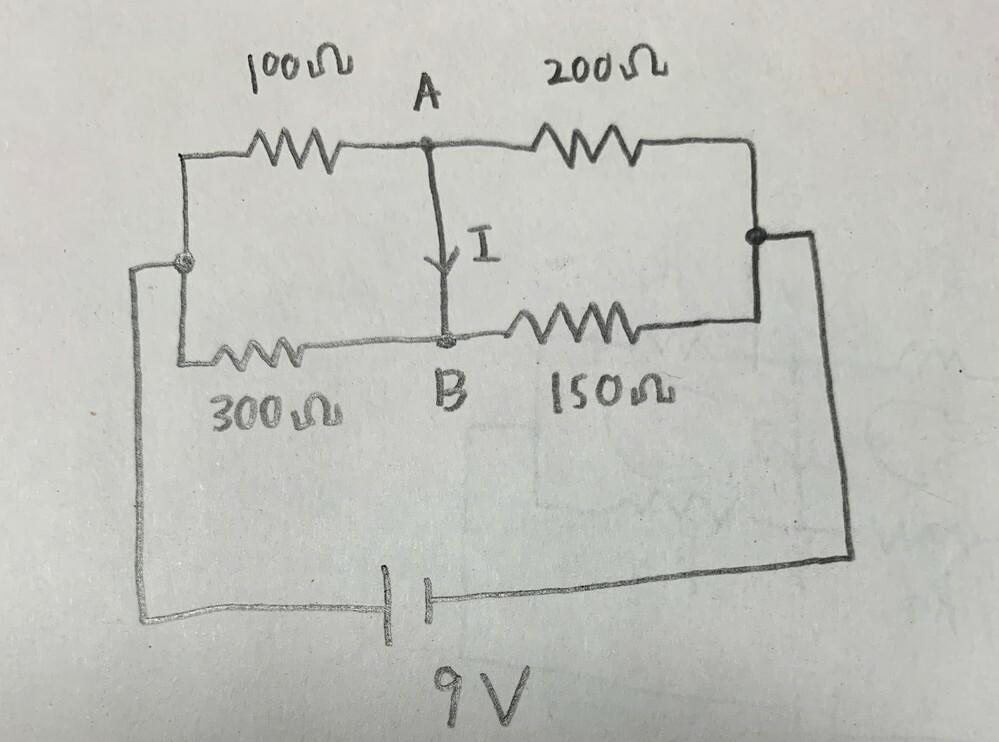 閉路解析の問題で質問があります。 問題文は次の通りです。 「図の抵抗回路において、端子A,Bを短絡したときに流れる電流Iを閉路解析にて求めよ」 行列の形にして求めるのですが、どのような手順で行列の形にするかがわかりません。