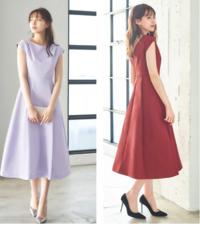 友人の結婚式用にドレスを購入しますが、どちらの色が良いでしょうか? 7月下旬の結婚式です。 https://item.rakuten.co.jp/girl-k/fu-381/ こちらのドレスが気に入っています。 私は身長164cmなので、膝下丈になります。  パーソナルカラーがサマーなので、ラベンダーの方が顔写りが良いです。でも、この画像だと、白っぽく見えるような気がします。 商品画像はフラ...