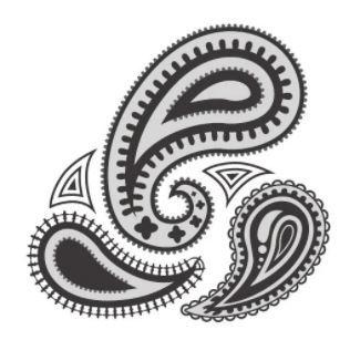イラレ初心者です。 多少の操作はできます。 画像のような ペーズリーの勾玉をかく手順を おしえてください。 とくに、 勾玉の形に沿ってトゲトゲのようなものを生やす方法が 分かりません。 ご教...