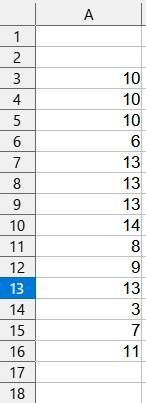 エクセル2016で、条件を満たす行の番号すべてをしりたいのですが、どうしたらよいでしょうか。 併せて、365でのやり方もお願いします。 詳しい方、よろしくお願いします。 添付した表で、 セル値が 5以上10未満となる行の、行番号すべて 10以上となる行の、行番号すべて を知りたいのです。