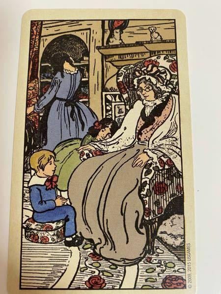タロットカードについてです。 この写真のカードが何を意味するのかを教えて頂きたいです。本や解説書を探してみたのですが、探し方が悪いのか見当たらなくて……
