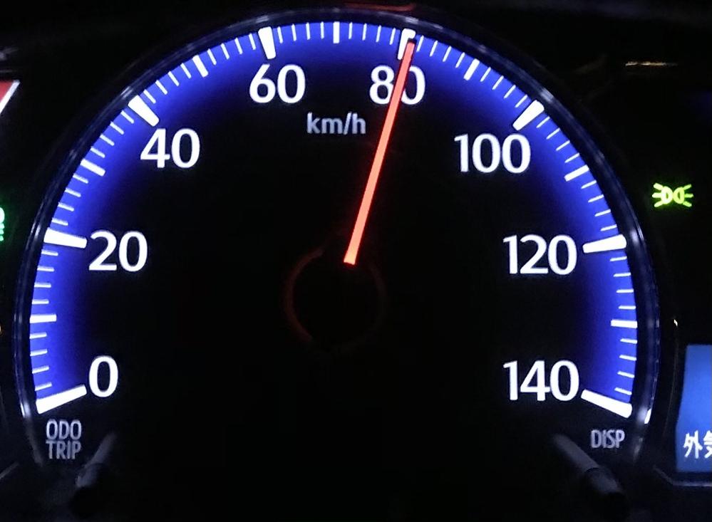 車持ってた頃は高速道路ではこのスピードで走っていたのですが、ホントにそれで良かったのでしょうか…? 左車線を普通に…。