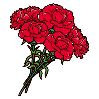 本日5月9日は母の日です(*˙˘˙*) 母の日といったら何色をイメージしますか?