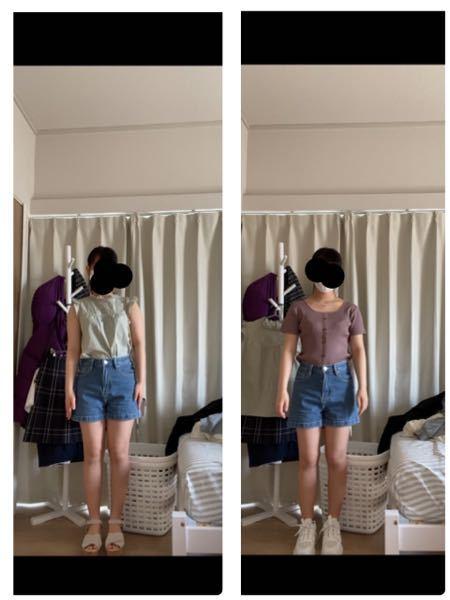 どちらの服が痩せて見えますか? 似合っているのはどっちですか?