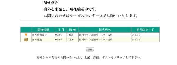 マイプロテイン 初購入しました 海外からの配送は初めてなのですがここから全く動きません これはまだ日本に着いていないとゆうことでしょうか? こんなものなのでしょうか?