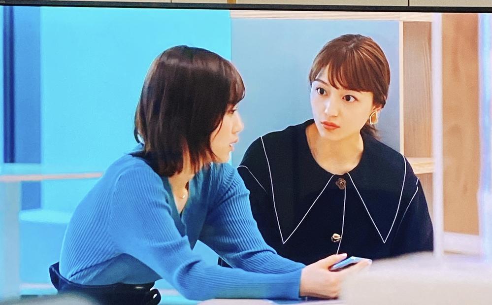 着飾る恋には理由があってというドラマの川口春奈さんが着ているこの黒字に白ステッチのジャケットのブランドがわかる人いませんでしょうか?