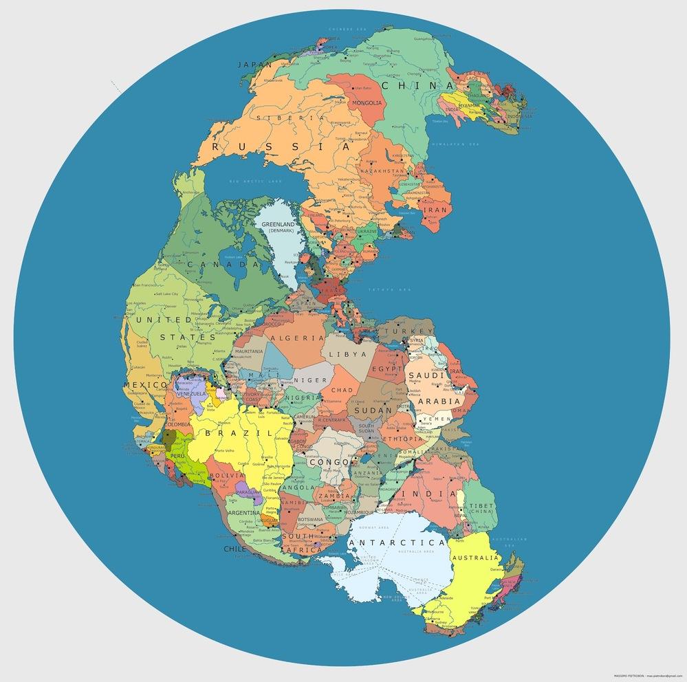 古代地球の超巨大大陸(パンゲア)が分裂して全世界に広がり現在の地形になったそうですが 地球上のパンゲア大陸の他の場所にも陸地が幾つもあった筈だと思いますが、 その他の陸地はどこに行ったのでしょうか?