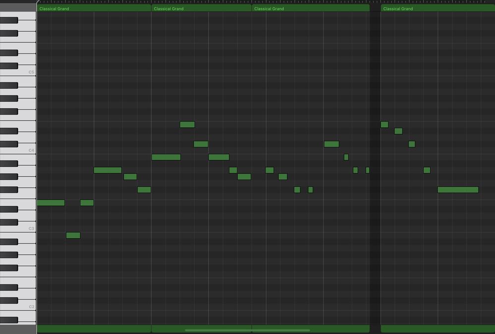 昔吹奏楽部でアンサンブルコンテストの時に弾いていた曲名が知りたいです! 以下、最初のメロディー譜面になります。(ピアノ譜面・画像添付) ミーシミ ラーソ♯ファ♯ シーミド♯シーラソ♯ ラーソ♯ーファ♯ファ♯ ド♯ーシラッラ ミーレ♯ード♯ーラーファ♯ーー 当時はアルトサックスで吹いていたのですが、 おそらく顧問の先生がサックス用に書き直して下さったのかもしれません。 どうぞ宜しくお願いします!!!