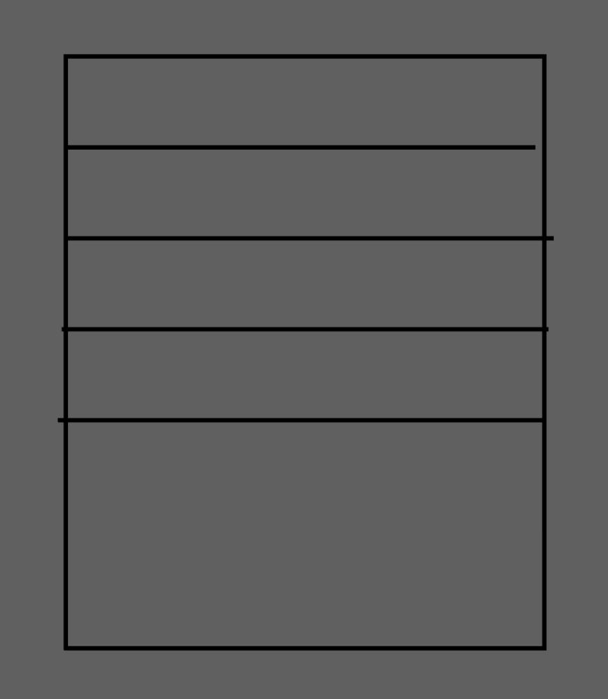 アドビのイラストレーターのソフトにて、範囲指定内に線を等間隔に設置する方法についてお教えください。 初心者です。バージョンはCCの最新だと思います。 youtubeや他の方のブログでも見つからなかったので、検索方法がわからず、認識が誤ってたら申し訳ございません。 添付した写真のように枠の中に線を作り、数値を指定することなく枠の中で自動で垂直方向に等間隔で設置したいです。 全てのオブジェクトを選択後、垂直等間隔を押すと上方に線が集まってしまいます。 また、キーオブジェクト(この場合だと枠です)を中心にすると、等間隔分布に数字を入力しなければならないようです。 定規でメモリを計算しながら作るのはできますが、時間がかかるので時短方法があれば教えてください。 何卒よろしくお願い申し上げます。