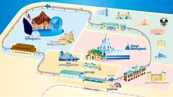 舞浜駅からディズニーシーへの徒歩移動について 舞浜駅からディズニーシーに電車で行くには、ディズニーリゾートラインの画像を見るとランドの方から回る一方通行しかないらしいですが、逆回りにリゾートライン沿いを舞浜からディズニーシーに歩いていくことは出来ますか?