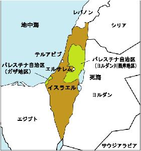 イスラエルとパレスチナって国違うんですか? 地図見た限りイスラエルの中にあるように見えるんですが