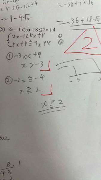 数学でやった小テストについてです。この写真何が間違っているのでしょうか? 図示は間違っていますが」←これは何を意味するんですかね...