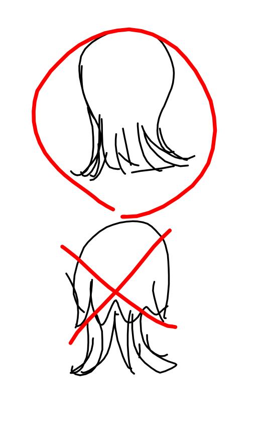こんな髪型探しています ・肩より少し長い ・首元がグッとくびれる ・首より下はかなり薄くなっている ・✕画像のように、上と下の髪型の境目が素人にもガッツリ見える髪型ではなく、どこで切っているのか分からない(素人目)