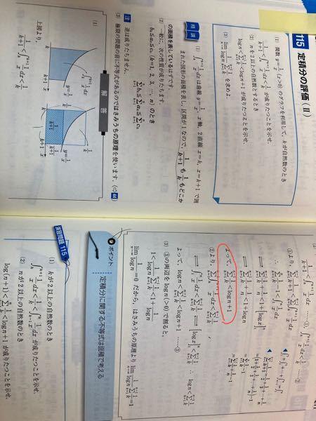 基礎問題精講 III 115 (2) 写真の赤で囲まれたところはなぜこうなるのでしょうか