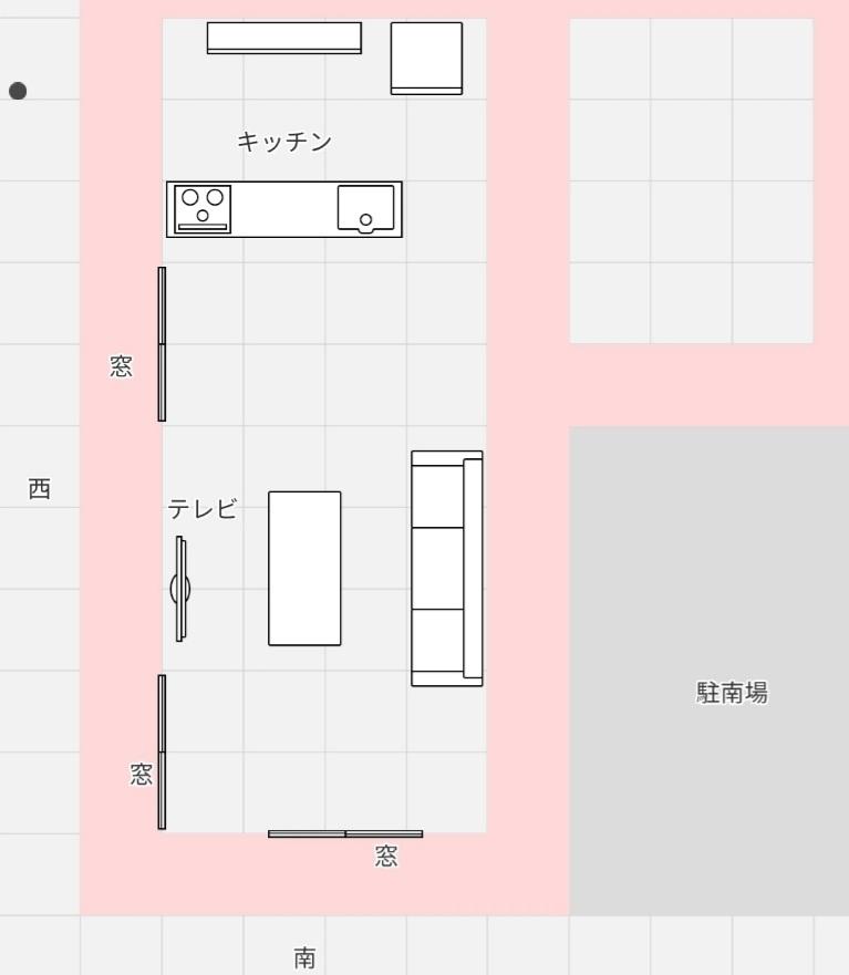 今マイホームの間取り検討中てす。 南に位置するリビングを作るなら 土地の問題で写真のようなリビングにしかならなさそうです。 (北と南に縦向きのリビング16畳) (駐車場の位置は動かせない状況) ...