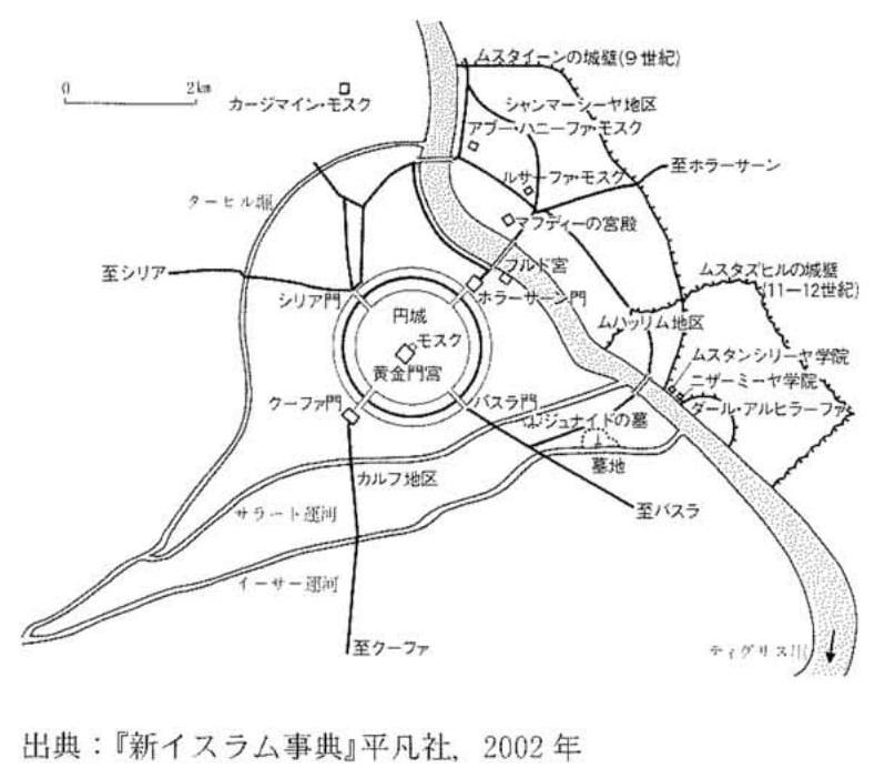 以下の図を参考にしつつ、問いに答えてください。問1. この年はある国家の都として8世紀に建設された。王朝名および都市名を記してください。 〔2010 千葉大学 - 文(史、日本文化、国際言語文化)〕 https://imgur.com/ilWDTX2
