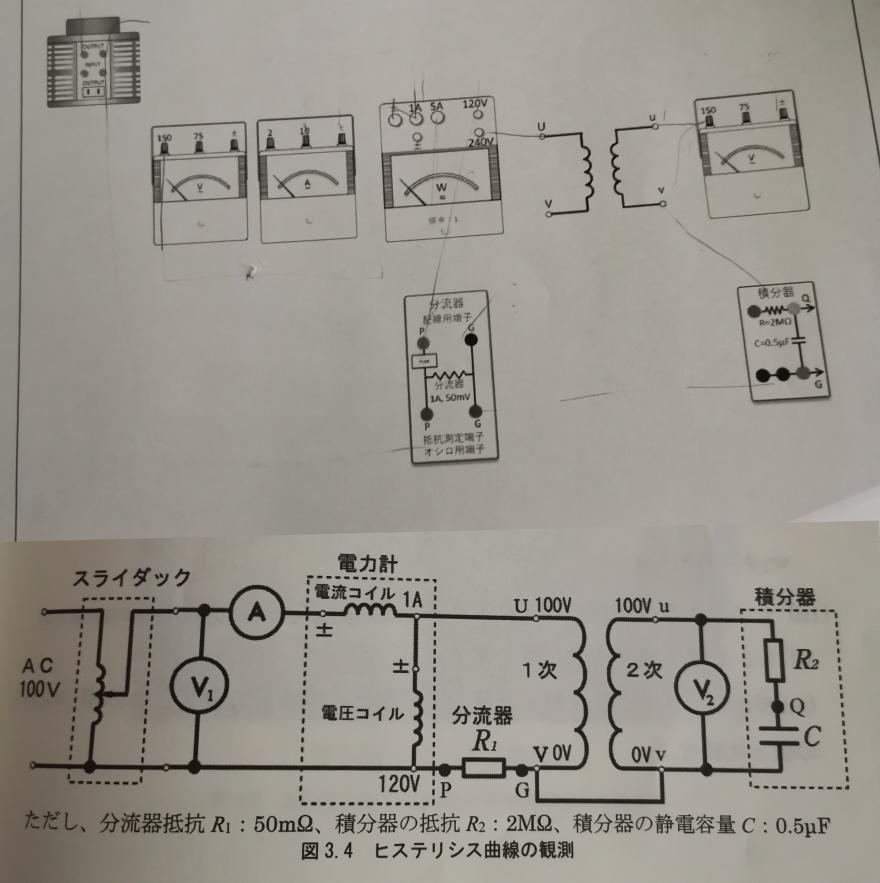 電気回路の問題です 画像下の回路図を画像上に実体配線図を書かないといけないのですが全く分からないのでわかる人教えてください