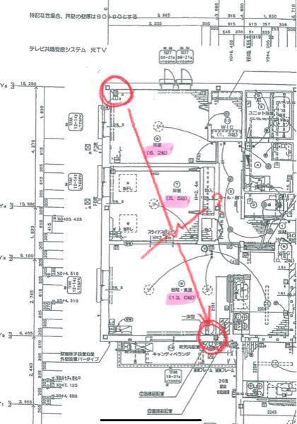 隠蔽配管へのエアコン設置について ご覧いただきありがとうございます。 表題について、添付図面のような隠蔽配管に対してエアコンを設置したいと考えております。 寝室は6畳のため、6畳用のエアコンで...