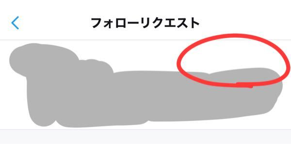 Twitterのフォローリクエストの画像赤丸のところにチェック、バツの表示がないのですがバグですか?そのうちでてきますか?
