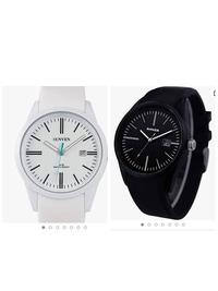 彼氏への誕生日プレゼントで、名前入りのペンと時計を買おうと思っているのですが、白と黒どちらがいいでしょうか このふたつで迷っています。 個人的には白がいいと思ってるんですが、白をつけている男性をあまり見かけないですし、友達に聞くと男性は白はチャラいと思ってしまうそうで迷っています。 彼的にもそこまで派手じゃなければなんでも良いそうです。