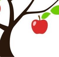 「実の生った木を描いてください」という問題で、下の画像のような感じで用紙の中央に大きく1個のリンゴを描き 幹を左端に、木の天辺と根を上下に見切れた形で描くとどのような評価になりますか?