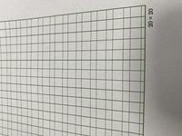 ワード2016の原稿用紙設定をすると、マス目がこのようになってしまいます。 以前は普通の原稿用紙のように、細い幅のところは縦線なしで出たのですが… 色々見てみたのですが、直し方がわからなかったので、わかる方教えてください。