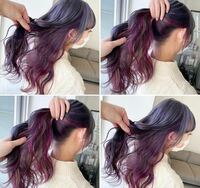 美容院でこのような髪色にしたい場合、インナーカラーを頼めばいいのでしょうか?それともダブルカラーでしょうか? 今は金髪です。