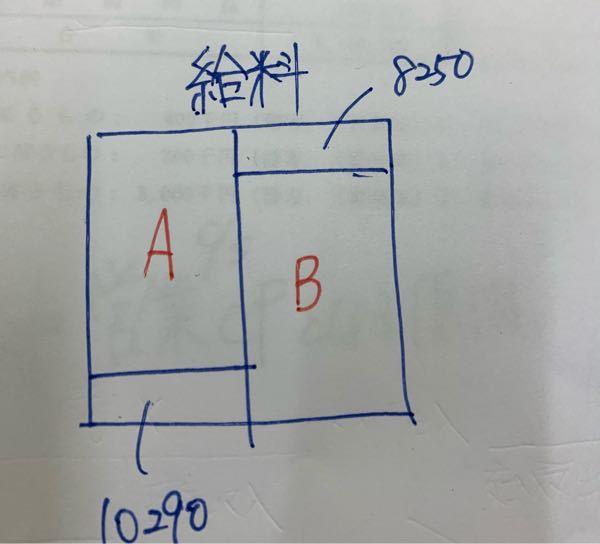 写真は給料のボックス図なんですが、決算整理後残高試算表の給料はAとBのどちらに当てはまりますか?