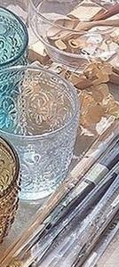 こちらの青・白・茶色のコップ どこのグラスかわかる方いらっしゃいますか?