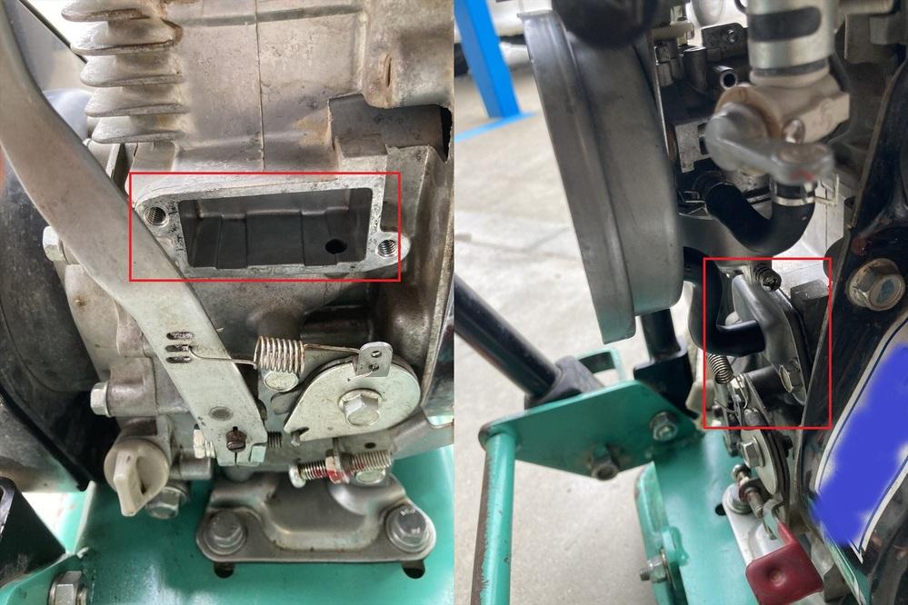 ロビン(スバル)EH09-2Dのエンジンメンテナンスについて カテ違いかもしれませんが、空冷4サイクルなので、 バイクカテが一番近いかと思いました。 エンジン本体から、黒いチューブで エアクリ...