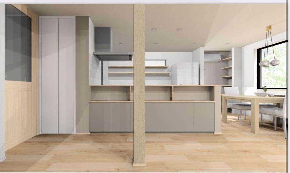 マイホーム建築中です。 LDKのエアコンの位置が画像のパースのような、 部屋のワークスペースで限られた部分の上に つく予定なのですが、充分に機能するのか心配です。 LDK自体は約23畳あります。 エア