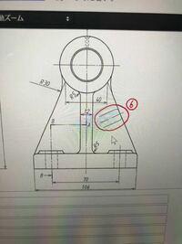 投影図の記号についてです。 ⑥の記号の意味を教えてください