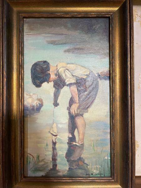 祖母の家の蔵から出てきた油絵です。 ネットで色々検索かけてみたのですが、詳細が分かりませんでした。 右下に「JNA M BLOOM」と書かれています。 価値のある物なのかなど詳細が知りたいです。 美術に詳しい方宜しくお願い致します。