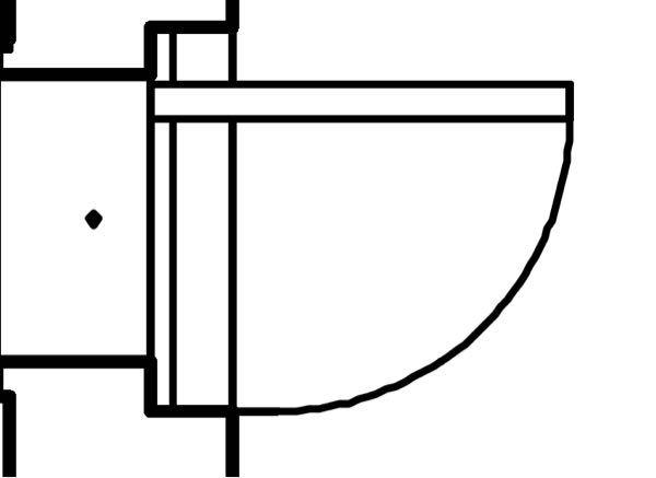 この平面図のドアはどういったドアでしょうか。 スケッチアップで立ち上げる際どのように立ち上げたらよいでしょうか。
