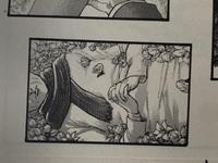 進撃の巨人についていくつか質問があります 最終話34巻の最後のページで少年が犬を連れて大きな木の中に入ろうとしてますが、あれはどういう意味を表しているんですか?あれはエレンの墓の木ですか? また、ミカサとジャンがエレンのお墓参り?に行った後のマフラーを巻いて寝ているおばあさん(下の画像)は、誰ですか?