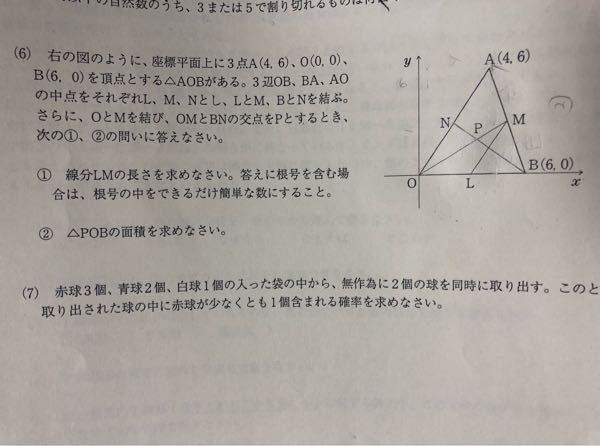 数学得意な方、(6)のグラフの問題の答え教えてほしいです。 答えのない過去問なので苦戦しています。