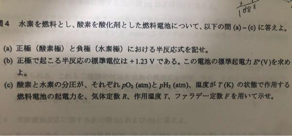 この問題教えて欲しいです。分析化学の電気化学の問題です。