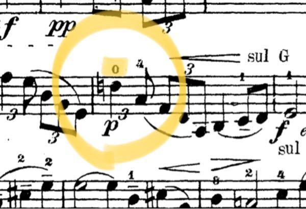バイオリンでA線の第一ポジションで弾くレの音が楽譜で0の指で押さえることになってるのですがどういう意味なのでしょうか? 今回はタイスの瞑想曲の一節で出てきましたが、他にも開放弦では絶対に弾けない音を0とだけ書かれたりしたものを見たことがあります。