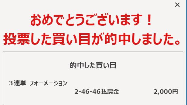 福井競輪1R、安いけどまた添付通り的中しました♪ 今日はこつこつです。 どう思いますか?^^