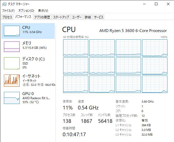 B450のBIOSをアップデートしたらPCの動作がすごく重くなりました。 CPUクロックが定格3.6ghzのはずが、ゲームを開いても0.5ghzしか出ません。 まともにゲーム出来ません。