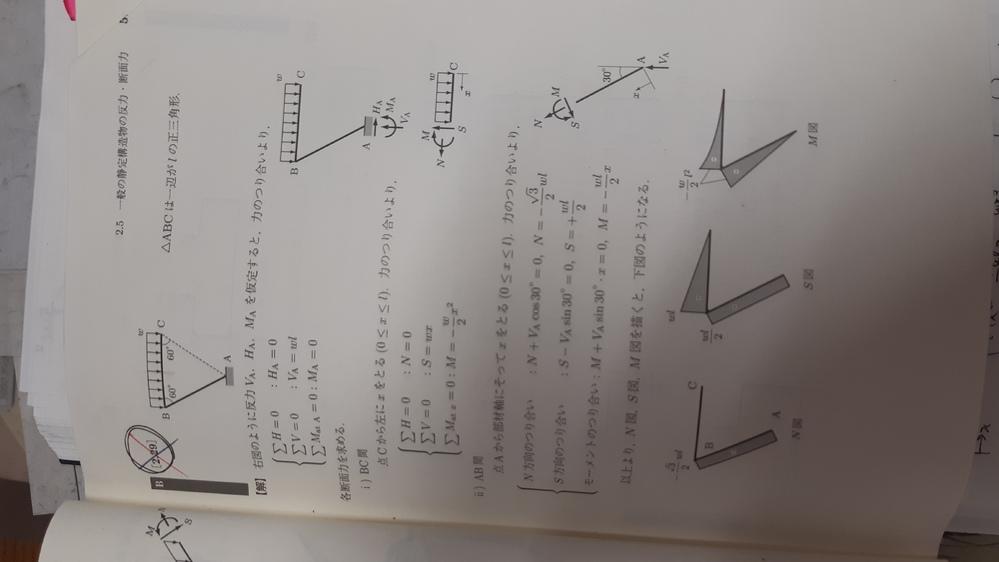 構造力学の問題なんですが、AB間におけるせん断力の切り取られ方が逆ではないかと考えるのですが、なぜこうなるのでしょうか? 教えていただけるとありがたいです。