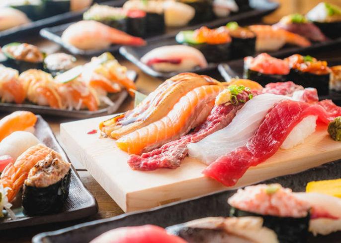 皆さ〜ん♪お寿司が食べ放題ですよ♪ 何からいきますか?(^o^)