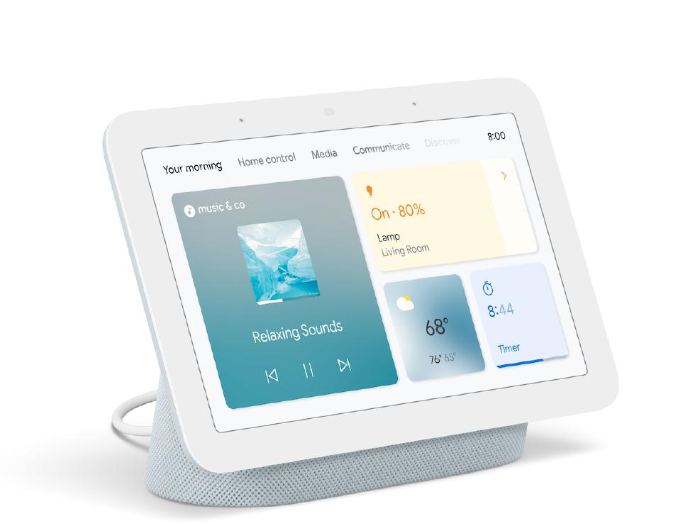 Google Nest Hubの第1世代で第2世代のホームデザイン(下画像)を表示させることは可能ですか?