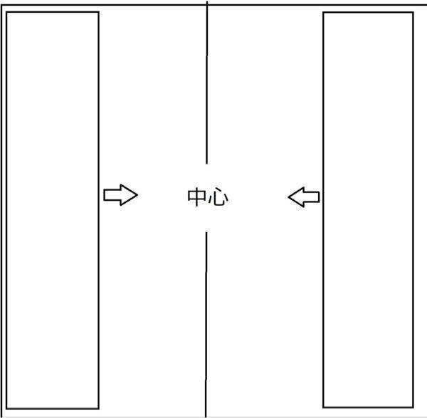 拡大する時に左寄りになるのですが、どうやったら画像のように両サイドの項目が中心に寄るようにできるのでしょうか? よろしくお願いしますm(_ _)m