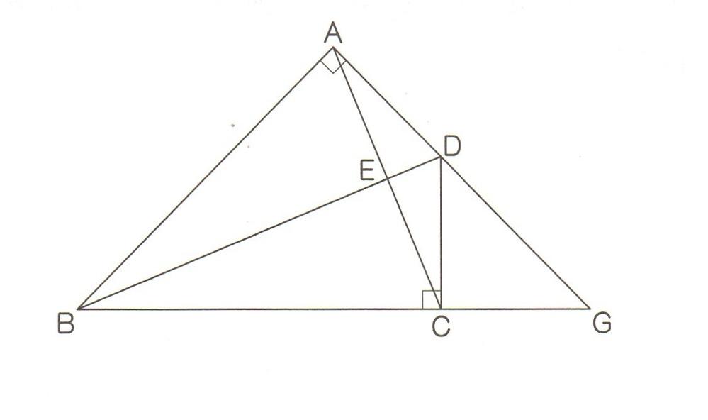 平面幾何について教えてください。 中3の妹の質問です。中3なので、三角比やヘロンの公式は使えません。 AB=BC=12,AD=CD=5、EはACとBDの交点、Gは辺ADとBCの延長線の交点です。 辺BDの中点をMとしたとき、△EGMの面積をもとめよ。 妹が友人から「答えは15」と聞いたのですが、その答えがあっているかどうかもわかりません。答えが15で間違いないか、そしてなぜ15となるのか、をお教えいただけると大変ありがたいです。 よろしくお願いいたします。
