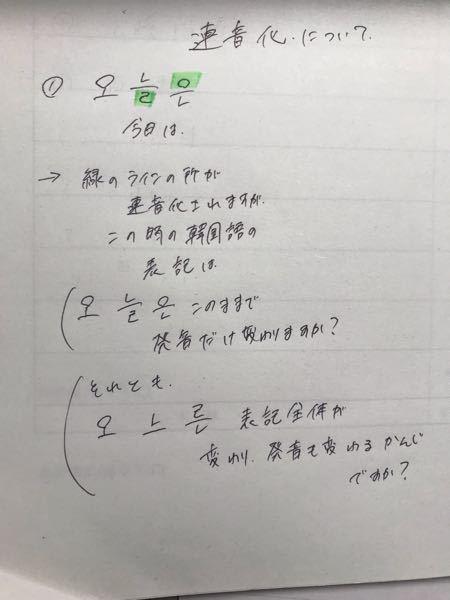連音化について疑問を教えて欲しいです!