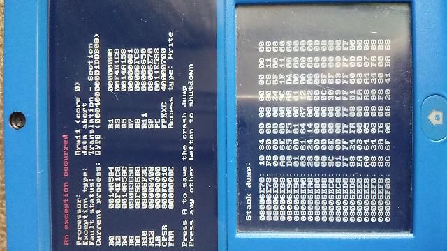 【500枚】3ds GYTB arm11 エラー 改造済み3dsです 全てのバッジを読み込んだ後書き込んでる時にエラーが起こりました lumaは9.1も10.2.1も無理でした 画像は10.2.1の時のやつです 設定はEnable game patchngとshow nand~のやつをオンにしています Enable~を消しても同じエラーがでました どうにか回避できないでしょうか やっぱバッジの入れすぎかなあ? lumaメニューのDisable Arm11~をオンにする(強制的に電源切れるのはそのまま)という回答はなしで。