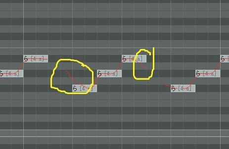 VOCALOID、初音ミクv4xの調声について質問です。 画像の黄色い丸(分かりづらくて申し訳ありません)で示した部分の音程を、ノート通りの音程で平坦に歌わせたいのですが、ポルタメントをいじってもできません(もし くは適切ないじり方が分かりません)。 平坦にするための歌わせ方が分かる方、ご教授いただけると嬉しいです。